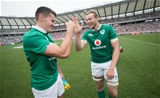 2017 Summer Tour 3rd Test, Ajinomoto Stadium, Chofu, Tokyo 24/6/2017Japan vs IrelandIreland's Jacob Stockdale and Kieran Treadwell after the game Mandatory Credit ©INPHO/Ryan Byrne