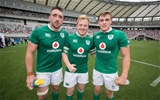 2017 Summer Tour 3rd Test, Ajinomoto Stadium, Chofu, Tokyo 24/6/2017Japan vs IrelandIreland's Jack Conan, James Tracy and Garry Ringrose after the game Mandatory Credit ©INPHO/Ryan Byrne