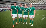 2017 Summer Tour 3rd Test, Ajinomoto Stadium, Chofu, Tokyo 24/6/2017Japan vs IrelandIreland's James Ryan, Jack Conan, James Tracy and Garry Ringrose after the game Mandatory Credit ©INPHO/Ryan Byrne