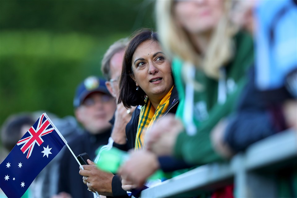 Bindi Mamouney was right behind Australia as they looked to upset the hosts on the opening night of the tournament
