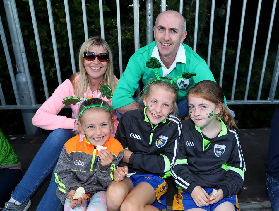 The Shannon family - Louise, Murach, Olivia, Lucy and Lauren - were there to cheer on Ireland at the UCD Bowl