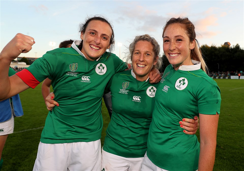 Backs Hannah Tyrrell, Alison Miller and Eimear Considine played their part as the Ireland Women defeated the Wallaroos in their opening Pool C match