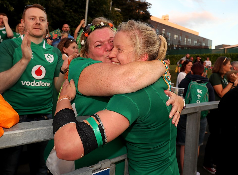 Flanker Claire Molloy, who has over a half-century of caps, was delighted to captain Ireland to their opening World Cup win