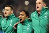 Guinness Series, Aviva Stadium, Dublin 11/11/2017 Ireland vs South AfricaIrelands Robbie Henshaw, Bundee Aki and James RyanMandatory Credit ©INPHO/Morgan Treacy
