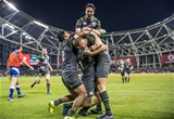 Guinness Series, Aviva Stadium, Dublin 11/11/2017 Ireland vs South AfricaIreland's Sean OBrien, Bundee Aki, Joey Carberry and Kieran Marmion congratulate try scorer Jacob Stockdale Mandatory Credit ©INPHO/Morgan Treacy