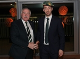 Guinness Series, Aviva Stadium, Dublin 11/11/2017 Ireland vs South AfricaIreland Rugby President Philip Orr presents Darren Sweetnam with his first cap Mandatory Credit ©INPHO/Dan Sheridan