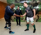 Guinness Series, Aviva Stadium, Dublin 18/11/2017 Ireland vs FijiFiji's Akapusi Qera and Rhys Ruddock of Ireland with Referee Paul Williams for the coin tossMandatory Credit ©INPHO/Dan Sheridan