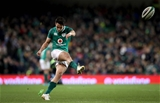 Guinness Series, Aviva Stadium, Dublin 18/11/2017 Ireland vs FijiIreland's Joey Carbery kicks a conversion Mandatory Credit ©INPHO/Ryan Byrne