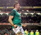 Guinness Series, Aviva Stadium, Dublin 18/11/2017 Ireland vs FijiIreland's Jack Conan celebrates scoring their third try of the game Mandatory Credit ©INPHO/Ryan Byrne