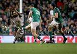 Guinness Series, Aviva Stadium, Dublin 18/11/2017 Ireland vs FijiFijis Levani Botia attempts to block Irelands Robbie HenshawMandatory Credit ©INPHO/Oisin Keniry