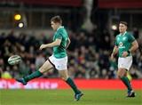 Guinness Series, Aviva Stadium, Dublin 18/11/2017 Ireland vs FijiIrelands Luke McGrath kicks the ball into touch to end the gameMandatory Credit ©INPHO/Dan Sheridan