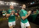 Guinness Series, Aviva Stadium, Dublin 18/11/2017 Ireland vs FijiIrelands Jordi Murphy and Dave Kearney after the gameMandatory Credit ©INPHO/Dan Sheridan