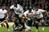 Guinness Series, Aviva Stadium, Dublin 18/11/2017 Ireland vs FijiIrelands Devin Toner and Nemani Nadolo of FijiMandatory Credit ©INPHO/Bryan Keane