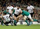 Guinness Series, Aviva Stadium, Dublin 18/11/2017 Ireland vs FijiIrelands Devin Toner blocks Fijis Campese MaafuMandatory Credit ©INPHO/Oisin Keniry
