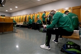 NatWest 6 Nations Championship Round 1, Stade de France, Paris, France 3/2/2018France vs IrelandIreland's Dan Leavy and Keith Earls in the changing room before the gameMandatory Credit ©INPHO/Dan Sheridan