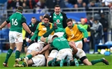 NatWest 6 Nations Championship Round 1, Stade de France, Paris, France 3/2/2018France vs IrelandIreland players celebrate with Johnny Sexton after he kicked the winning drop goalMandatory Credit ©INPHO/James Crombie