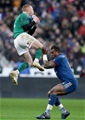 NatWest 6 Nations Championship Round 1, Stade de France, Paris, France 3/2/2018France vs IrelandIreland's Keith Earls collects a cross field kick from Jonathan Sexton despite the efforts of Virimi Vakatawa of FranceMandatory Credit ©INPHO/Dan Sheridan