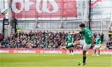 NatWest 6 Nations Championship Round 2, Aviva Stadium, Dublin 10/2/2018Ireland vs ItalyIreland's Joey Carbery kicks a conversionMandatory Credit ©INPHO/Morgan Treacy