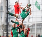 NatWest 6 Nations Championship Round 3, Aviva Stadium, Dublin 24/2/2018Ireland vs WalesWales' Aaron Shingler with Peter O'Mahony of IrelandMandatory Credit ©INPHO/Tommy Dickson