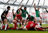 NatWest 6 Nations Championship Round 3, Aviva Stadium, Dublin 24/2/2018Ireland vs WalesIreland's Bundee Aki, Conor Murray, Keith Earls, CJ Stander and Dan Leavy celebrate Cian Healy scoring their fourth try Mandatory Credit ©INPHO/Dan Sheridan