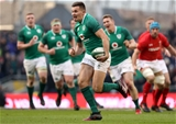 NatWest 6 Nations Championship Round 3, Aviva Stadium, Dublin 24/2/2018 Ireland vs WalesIreland's Jacob Stockdale runs in his second try Mandatory Credit ©INPHO/Tommy Dickson