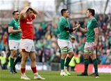 NatWest 6 Nations Championship Round 3, Aviva Stadium, Dublin 24/2/2018 Ireland vs WalesIreland's Jack Conan, Quinn Roux and James Ryan celebrate after the game Mandatory Credit ©INPHO/Dan Sheridan