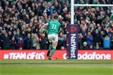 NatWest 6 Nations Championship Round 3, Aviva Stadium, Dublin 24/2/2018 Ireland vs WalesIreland's Jacob Stockdale runs in a try Mandatory Credit ©INPHO/Bryan Keane