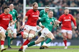 NatWest 6 Nations Championship Round 3, Aviva Stadium, Dublin 24/2/2018 Ireland vs WalesIreland's Keith Earls with Alun Wyn Jones of WalesMandatory Credit ©INPHO/Bryan Keane