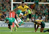 Mitsubishi Estate Series 1st Test, Suncorp Stadium, Brisbane9/6/2018Australia vs IrelandIreland's Robbie Henshaw tackled by Will Genia and Marika Koroibete of AustraliaMandatory Credit ©INPHO/Dan Sheridan