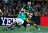 Mitsubishi Estate Series 3rd Test, Allianz Stadium, Sydney, Australia 23/6/2018Australia vs IrelandIreland's Robbie Henshaw and Bundee Aki tackle Kurtley Beale of AustraliaMandatory Credit ©INPHO/Dan Sheridan