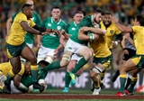 Mitsubishi Estate Series 3rd Test, Allianz Stadium, Sydney, Australia 23/6/2018Australia vs IrelandIreland's Robbie Henshaw is tacked by Michael Hooper of AustraliaMandatory Credit ©INPHO/Dan Sheridan