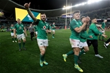 Mitsubishi Estate Series 3rd Test, Allianz Stadium, Sydney, Australia 23/6/2018Australia vs IrelandIreland's Robbie Henshaw and Jacob Stockdale celebrate after the gameMandatory Credit ©INPHO/Dan Sheridan
