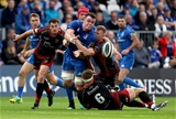 Guinness PRO14, RDS, Dublin 15/9/2018Leinster vs DragonsLeinster's James Ryan offloads to Jamison Gibson-Park whilst being tackled by Aaron Wainwright and Jack Dixon of the Dragons Mandatory Credit ©INPHO/Dan Sheridan