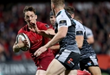 Guinness PRO14, Irish Independent Park, Cork 14/9/2018Munster vs OspreysMunster's Darren Sweetnam on the way to scoring a tryMandatory Credit ©INPHO/Dan Sheridan