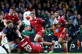 Galway man Sean O'Brien provides the assist for Niyi Adeolokun's late try against last season's GUINNESS PRO14 runners-up Credit: ©INPHO/Bryan Keane