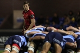 Winger Darren Sweetnam waits for a scrum to complete during the fourth round clash at Cardiff Arms Park Credit: ©INPHO/Billy Stickland