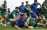 Guinness PRO14, The Sportsground, Galway 29/9/2018Connacht vs LeinsterLeinster's Sean Cronin scores his sides second try despite Paul Boyle and Kieran Marmion of ConnachtMandatory Credit ©INPHO/James Crombie