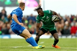 Guinness PRO14, The Sportsground, Galway 29/9/2018Connacht vs LeinsterLeinster's Jordan Larmour and Niyi Adeolokun of ConnachtMandatory Credit ©INPHO/James Crombie