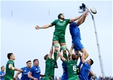 Guinness PRO14, The Sportsground, Galway 29/9/2018Connacht vs LeinsterConnacht's Ultan Dillane and Devin Toner of LeinsterMandatory Credit ©INPHO/James Crombie