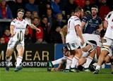 Guinness PRO14, Kingspan Stadium, Belfast 5/10/2018Ulster vs ConnachtUlster's John Cooney kicks clear Mandatory Credit ©INPHO/Dan Sheridan