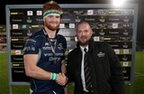 Guinness PRO14, Kingspan Stadium, Belfast 5/10/2018Ulster vs ConnachtConnacht's Sean O'Brien is presented with the Guinness PRO14 Man of the Match award by Steven Hall Mandatory Credit ©INPHO/Dan Sheridan