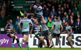 European Rugby Challenge Cup Round 1, Sportsground, Galway 13/10/2018Connacht vs Bordeaux-BeglesConnacht's Niyi Adeolokun claims a high ballMandatory Credit ©INPHO/Tommy Dickson