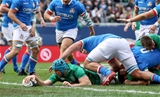 Guinness Series, Solider Field, Chicago, USA 3/11/2018Ireland vs ItalyIreland's Tadhg Beirne score his side's first try Mandatory Credit ©INPHO/Dan Sheridan