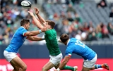 Guinness Series, Solider Field, Chicago, USA 3/11/2018Ireland vs ItalyIreland's Garry Ringrose with Mattia Bellini and Michele Campagnaro of ItalyMandatory Credit ©INPHO/Dan Sheridan