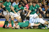 Guinness Series, Aviva Stadium, Dublin 10/11/2018Ireland vs ArgentinaIreland's Kieran Marmion scores his sides first try despite the efforts of Ramiro Moyano of ArgentinaMandatory Credit ©INPHO/Dan Sheridan