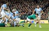Guinness Series, Aviva Stadium, Dublin 10/11/2018Ireland vs ArgentinaIreland's Luke McGrath scores a tryMandatory Credit ©INPHO/Dan Sheridan