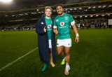 Guinness Series, Aviva Stadium, Dublin 10/11/2018Ireland vs ArgentinaIreland's Kieran Marmion and Bundee Aki celebrate after the gameMandatory Credit ©INPHO/James Crombie