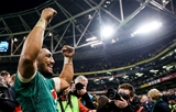 Guinness Series, Aviva Stadium, Dublin 17/11/2018Ireland vs New Zealand All BlacksIreland's Bundee Aki celebrates after the game Mandatory Credit ©INPHO/Gary Carr