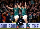 Guinness Series, Aviva Stadium, Dublin 17/11/2018Ireland vs New Zealand All BlacksIreland's Jacob Stockdale and Joey Carbery celebrate at the final whistle Mandatory Credit ©INPHO/Bryan Keane