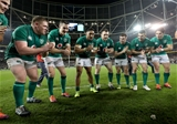 Guinness Series, Aviva Stadium, Dublin 17/11/2018Ireland vs New Zealand All BlacksIreland's Tadhg Furlong, Jonathan Sexton, Bundee Aki, Cian Healy, Luke McGrath, Rob Kearney and Joey Carbery celebrate winning Mandatory Credit ©INPHO/Dan Sheridan